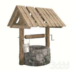 models: Other - Well 3d Models, Old Wood, Architectural Elements, Outdoor Furniture, Outdoor Decor, Ottoman, Bench, Scene, Architecture