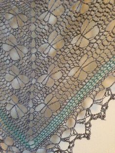 Ravelry: Glittertind's Butterfly stitch prayer shawl