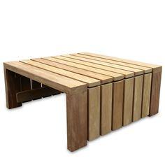 Robuuste bijtafeltafel voor buiten van duurzaam FSC hardhout, elke maat is mogelijk