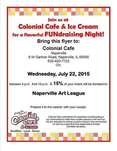 Fundraiser For Naperville Art League