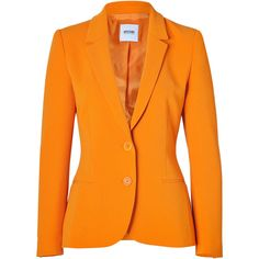 No Material info available. Amp up your work-ready style with this bold orange blazer from Moschino C&C. Notched lapels, long sleeves, two-button closure, welt…