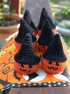 2014 Halloween crochet for home decorating,Crochet Pumpkin Decorations #Halloween #decor #crochet