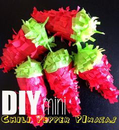 The Adventures of Jolly and Happy: DIY Mini Chili Pepper Pinatas