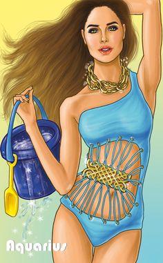 The Zodiac Signs- Horoscopes by Shamekh Al-Bluwi, via Behance♒