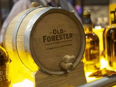 Old Forester Bourbon cask photographed at the 2015 Houston Whiskey Fest