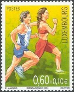 Sello: Running (Luxemburgo) (Sport) Mi:LU 1655,Sn:LU B442,Yt:LU 1604,WAD:LU017.04