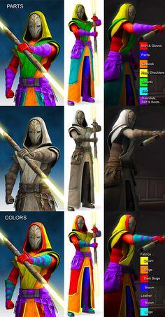 Jedi Cosplay, Jedi Costume, Star Wars Jedi, Star Wars Art, Trajes Star Wars, Jedi Temple Guard, Guerra Dos Clones, Star Wars Concept Art, Star Wars Light Saber