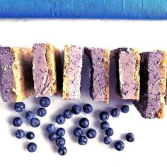 """Dinner with friends tonight. She texted this morning, """"Can you please bring #Dessert?!"""" Ummmmmm......obv. I couldn't wait to make + bring these Raw Blueberry Cheesecake Bars. Not my recipe. But they are my friend, Vani's - aka @thefoodbabe. I put the link for recipe in my profile. 🥄 . . . They do *not* disappoint. Ever. And I've made them many times for people with all different food preferences. But they are: #glutenfree, #Vegan (if you use Maple vs Honey), & #dairyfree . . . #fitfluential…"""