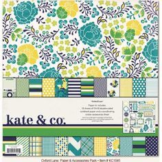 Kate & Co Oxford Lane Paper and Accessories Pack Assorted