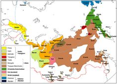 Map of circumpolar and Siberian people, in: North, Siberia, and the Steppe  Dealing with the Past in Russia's North, Siberia, and the Steppe [Frederick Corney] / http://russiasperiphery.blogs.wm.edu/russias-north-siberia-and-the-steppe/