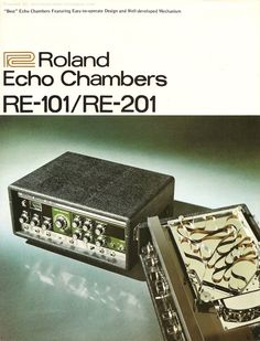 """Retro Synth Ads: Roland Echo Chambers RE-101/RE-201 """"Deepen the Depth of Your Music"""" brochure, 1975"""