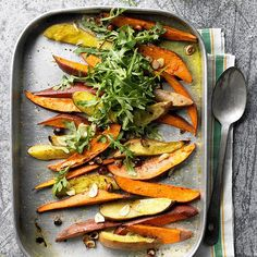 The secret to a vegetable side-dish recipe packed with natural sweetness and full-bodied flavor? Roasting! These roasted vegetable recipes are both delicious and easy, perfect for a simple weeknight meal or a holiday showstopper. From roasted root vegetables to an Indian-inspired main-dish recipe, there's a roasted vegetable recipe for everyone!