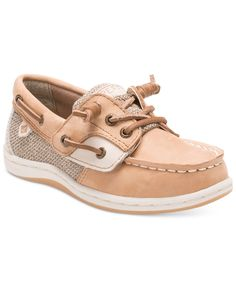 Dress her for her day's adventures in adorable, ocean-inspired style with these classic and comfy Songfish Jr. boat shoes from Sperry. | Nylon upper; rubber sole | Imported | Alternative closure with