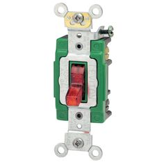 Leviton 30 Amp 120 Volt Red Toggle Light Switch (Switches&outlet covers)