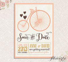 Custom Printable SAVE THE DATE Vintage Card Invitation