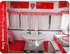Gerry's Caravan - dining area featured on happylovesrosie.com
