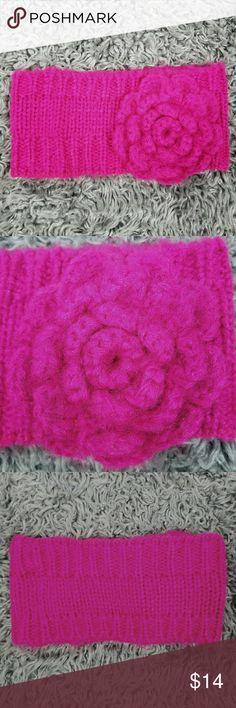BP Girls Knit Headband with Flower Accent BP Girls Knit Headband with Flower Accent bp Accessories Hats