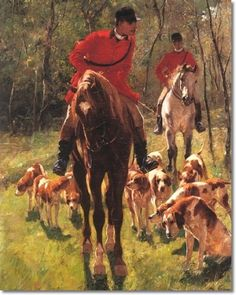 "✿ڿڰۣ(̆̃̃❤Aussiegirl  #ART Franz Amling - ""The Fox Hunt"""