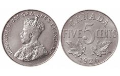 Top 10 rare Canadian nickels include the 1926 far 1947 dot, 1951 high relief, 1953 Shoulder Fold (SF) Far Maple Leaf, the 1925 and 1965 large beads.