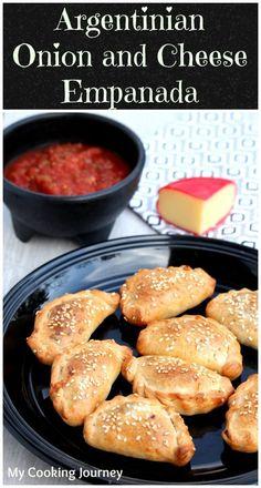 E for Empanada - Argentinian Onion and Cheese Empanada (Mexican Recipes Empanadas) Easy Appetizer Recipes, Snack Recipes, Cooking Recipes, Snacks, Enchiladas, Latin Food, Tostadas, Tapas, Argentine Recipes