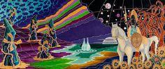 Alba di Madame Chisciotte Oil on canvas 117x278 - 2010