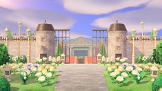 Animal Crossing Guide, Animal Crossing Villagers, Animal Crossing Qr Codes Clothes, Teacup Pigs, Showing Livestock, Fantasy Castle, Entrance Design, Animal Games, Island Design