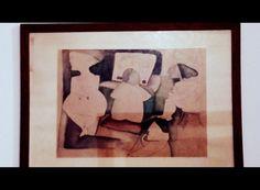 Beth Kok - aquarela - as tres mocinhas na sala de estar