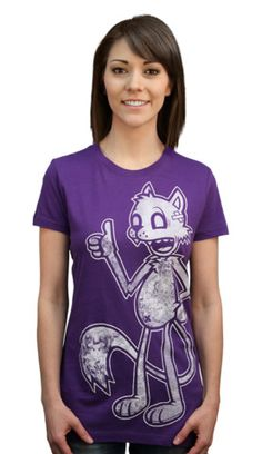 Limited Edition - Modern Cartoon T-shirt by jublin from Design By Humans. A tattooed cat is where it's at. Modern Cartoon has a new color and this bad ole cat is back with some bright boldness. Printed on Royal blue and purple this print will have you poppin. A cool graphic tee with a fun image and bags of attitude. Perfect tee for cat nerds and tattoo lovers alike.  for $20