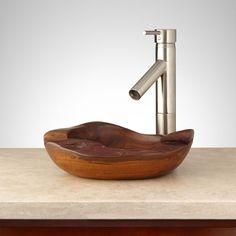 Linefork Teak Root Vessel Sink