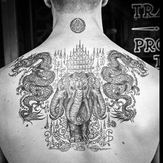 15 Kinds of Sak Yant Tattoo Meanings and Taboos - Wormhole Tattoo 丨 Tattoo Kits, Tattoo machines, Tattoo supplies Tatouage Yantra, Tatuagem Sak Yant, Yantra Tattoo, Sak Yant Tattoo, Muay Thai Tattoo, Khmer Tattoo, Irezumi Tattoos, Kunst Tattoos, Body Art Tattoos