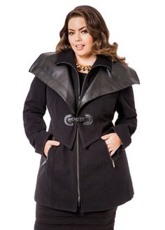 7eaed923faa Pleather Trimmed Buckle Coat. I am in love with this coat ladies! A little. Ashley  Stewart