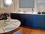 The exquisitely fitted kitchen and dining room in the Brompton, 2 Bedroom Vacation Apartment for Rent in Chelsea, London, England