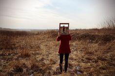 #photography #girl #mirror #reality #art #red #coat #pjfoto