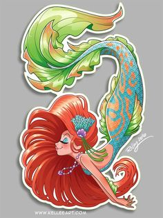 Mermaids, Fairies and other Mythical Beings(on Facebook) Lovely mermaid art by our friend Kellee Riley http://www.kelleeart.com/