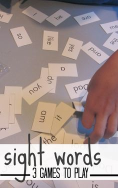 3 all-time favorite games to play with sight words | use these ideas for learning vocabulary or letters, too! | #weteach #vlog free printables