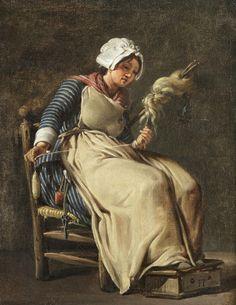 Gemälde von Hugues Taraval - A kitchen maid (1783) lesenswerte Seite?