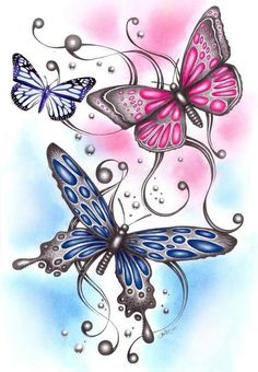 Butterfly name tattoo designs photo - 2 Colorful Butterfly Tattoo, Butterfly Name Tattoo, Butterfly Drawing, Butterfly Pictures, Butterfly Fairy, Butterfly Tattoo Designs, Butterfly Wallpaper, Butterfly Kisses, Butterfly Flowers