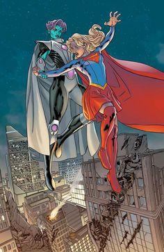 Supergirl vs Indigo by Steve Pugh