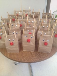 Christmas reindeer snack bags.