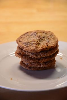 Crispy Chocolate Chunk Cookies – a treat for my beloved little brother Chocolate Chunk Cookies, Brother, Muffin, Treats, Breakfast, Desserts, Food, Homemade, Bakken