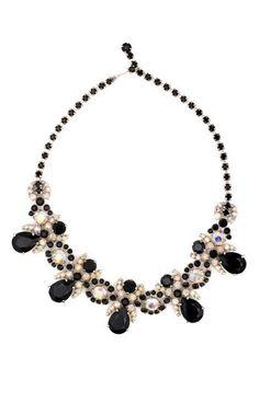 Schiaparelli Vintage Jewelry Vintage 2013 Schiaparelli Aurora Borealis Scalloped Necklace on Moda Operandi
