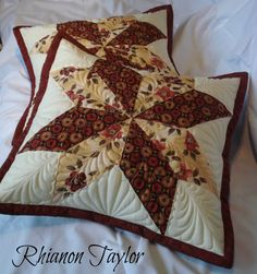 The Nifty Stitcher: Big Star Quilted Cushions