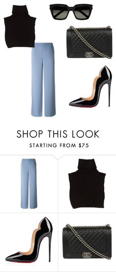 """""""Untitled #37"""" by nicantipoo on Polyvore featuring Marc Jacobs, Christian Louboutin, Chanel and Yves Saint Laurent"""