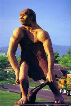 "Grants Pass, Oregon is the home to the Oregon Caveman, a stunning 17-foot replica of early man constructed by the ""Caveman Club"" back in 1971."