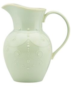 French Perle Ice Blue Large Pitcher