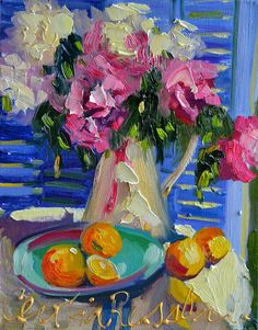 PEONIES AND LEMONS by CECILIAROSSLEE