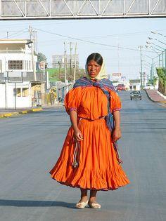 Mujer taraumara de Chihuahua Mexico.