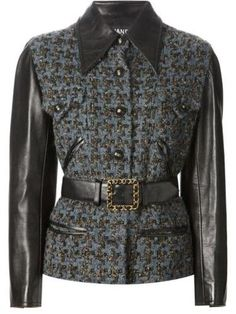 CHANEL VINTAGE boucle jacket #collarlessjacket #chanel #designer #covetme #CHANEL VINTAGE