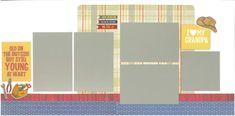 12x12 I LOVE my GRANDPA scrapbook page kit, premade scrapbook, 12x12 premade scrapbook page, premade scrapbook page, 12x12 scrapbook layout