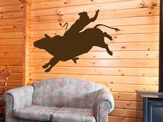 Bull Riding Wall Plaque Cowboy Hanging Western Decor 18 99 Via Etsy Taylors Room Pinterest And